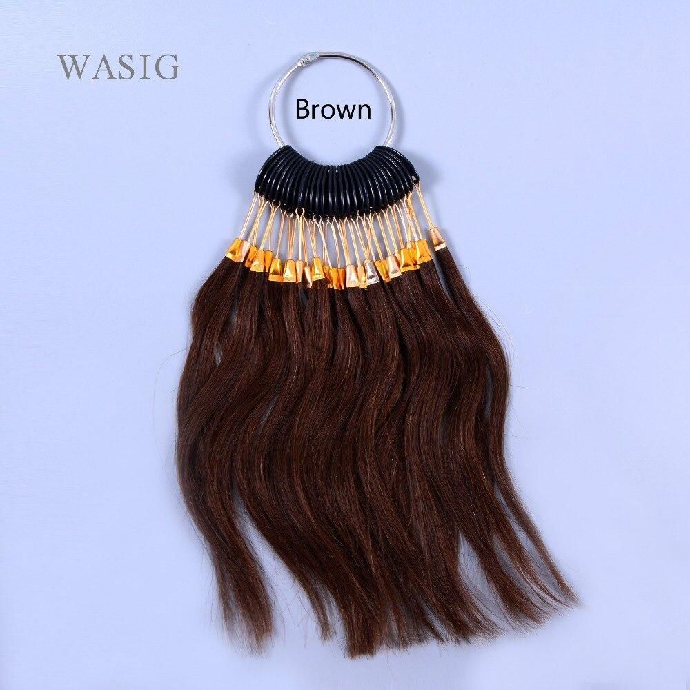 30 шт./компл. 100% человеческих волос девственницы светло-коричневого цвета кольцо для человеческих волос и салон, окрашивание волос образец