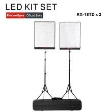 Falcon Eyes 100W Bi Color Led Studio Video Fotografia Licht Waterdicht Continue Verlichting Draagbare Foto Selfie Lamp Kit set