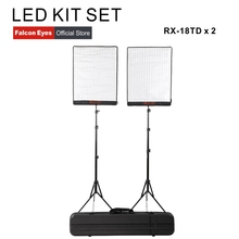 Falcon Eyes 100W Bi Farbe LED Studio Video Fotografia Licht Wasserdichte Kontinuierliche Beleuchtung Tragbare Foto Selfie Lampe Kit set