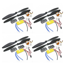 4 set/lote a2212 1000kv 2200kv a2208 motor sem escova + 30a esc + 1045 hélice quad rotor conjunto para aeronaves rc multicopter