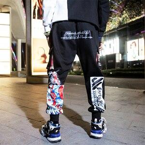 Image 3 - Hip Hop Pants Men Cotton Pattern Joggers
