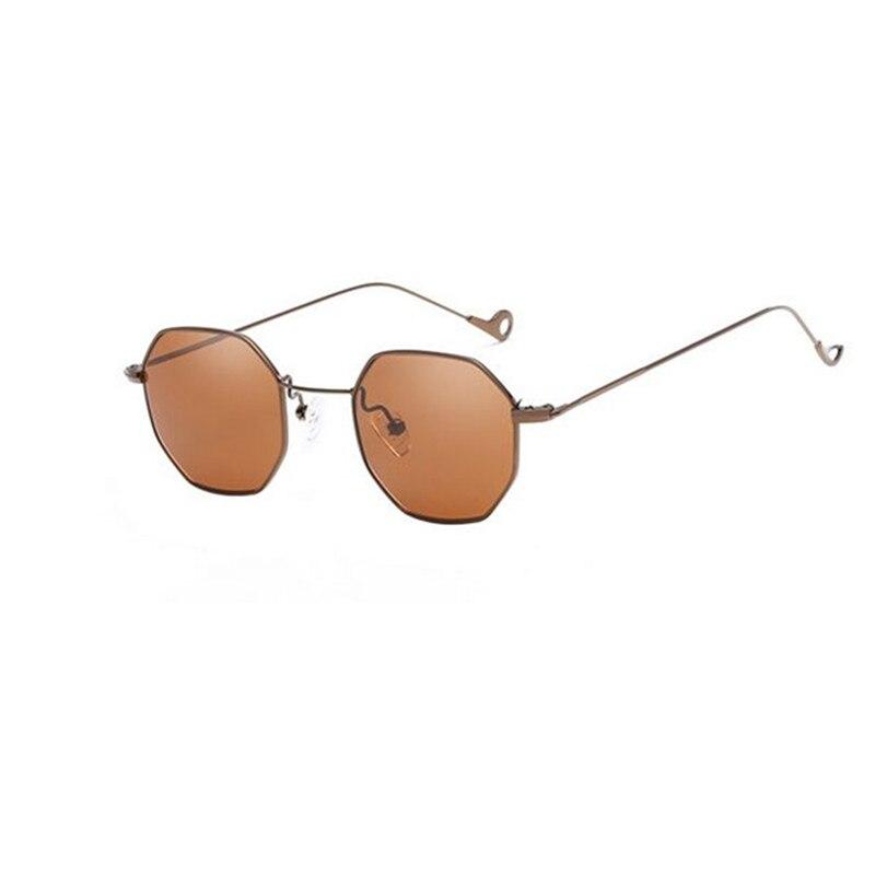 2018 bleu jaune rouge teinté lunettes de soleil femmes petit cadre polygone  brand design vintage lunettes ... a5bf636e1a88