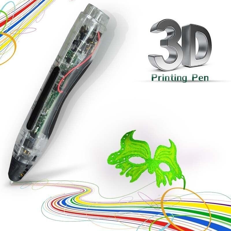 Stylo 3D basse température PCL 3D dessin stylo pour enfants gribouiller un bouton opération stylos 3D avec 50 M PCL Filament 1.75mm