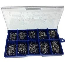 500 Uds #3 12 plata oro negro de agua dulce anzuelos para pesca de carpa anzuelos con púas Kit de ganchos de Jigging para carpa cebo gancho de pesca