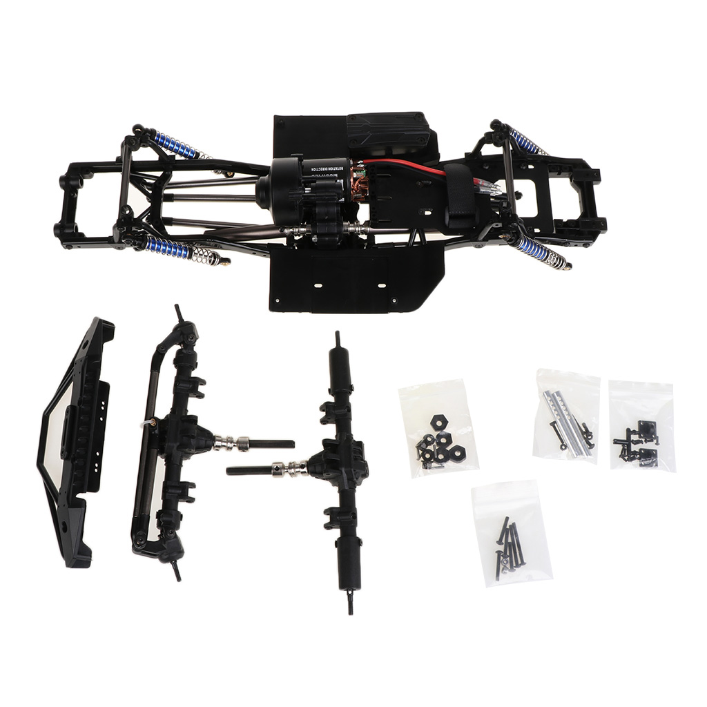 New 313mm 12 3inch Wheelbase Assembled Frame Chassis for 1 10 RC Crawler Car SCX10 SCX10