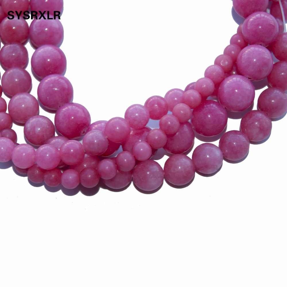 卸売 Gules 天然石アクアアマゾナイトラウンドルースビーズジュエリー作成 Diy のためブレスレットネックレス 6 8 10 12 ミリメートルストランド