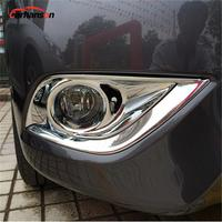Car Styling Styling For Nissan Versa Sedan Accessories 2015 2017 Chrome Front Fog Light Lamp Frame Cover Trim Car Sticker Plates