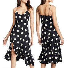 Женские платья Летние пляжные платья Женские повседневные нерегулярные платья спагетти с ремешками  Лучший
