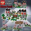 Lepin 4 modelos 523 unids mi mundo minecraft bloques de construcción ladrillos juguetes para los niños regalo