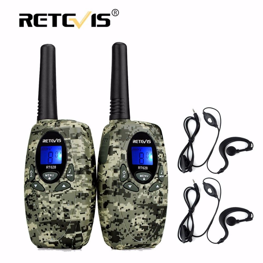 2 stücke 4 Farben Retevis RT628 Mini Walkie-talkie + 2 stücke 1Pin Headset 0,5 Watt 8/22CH PMR FRS/GMRS UHF Frequenz Bewegliche 2 Way Radio Set