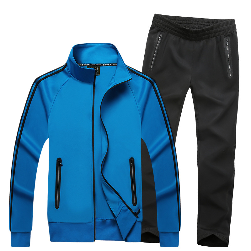 Men Sweatsuit 2019 Spring Autumn Male Sporting Suit Jacket Sweatshirt+Pants Sportswear Two Piece Set Tracksuit For Men Clothes