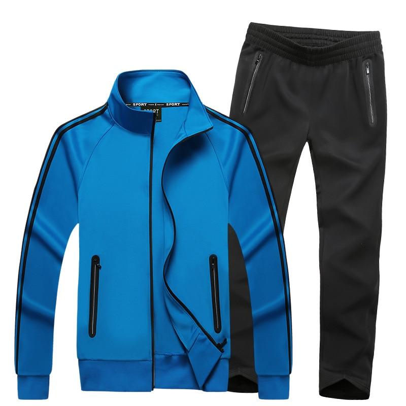 Men Sweatsuit 2019 Spring Autumn Male Sporting Suit Jacket Sweatshirt+Pants Sportswear Two Piece Set Tracksuit For Men Clothes