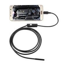 Водонепроницаемый 480P HD 7 мм объектив инспекционная труба 1 м эндоскоп мини USB камера змеиная трубка с 6 светодиодами бороскоп для Android PC