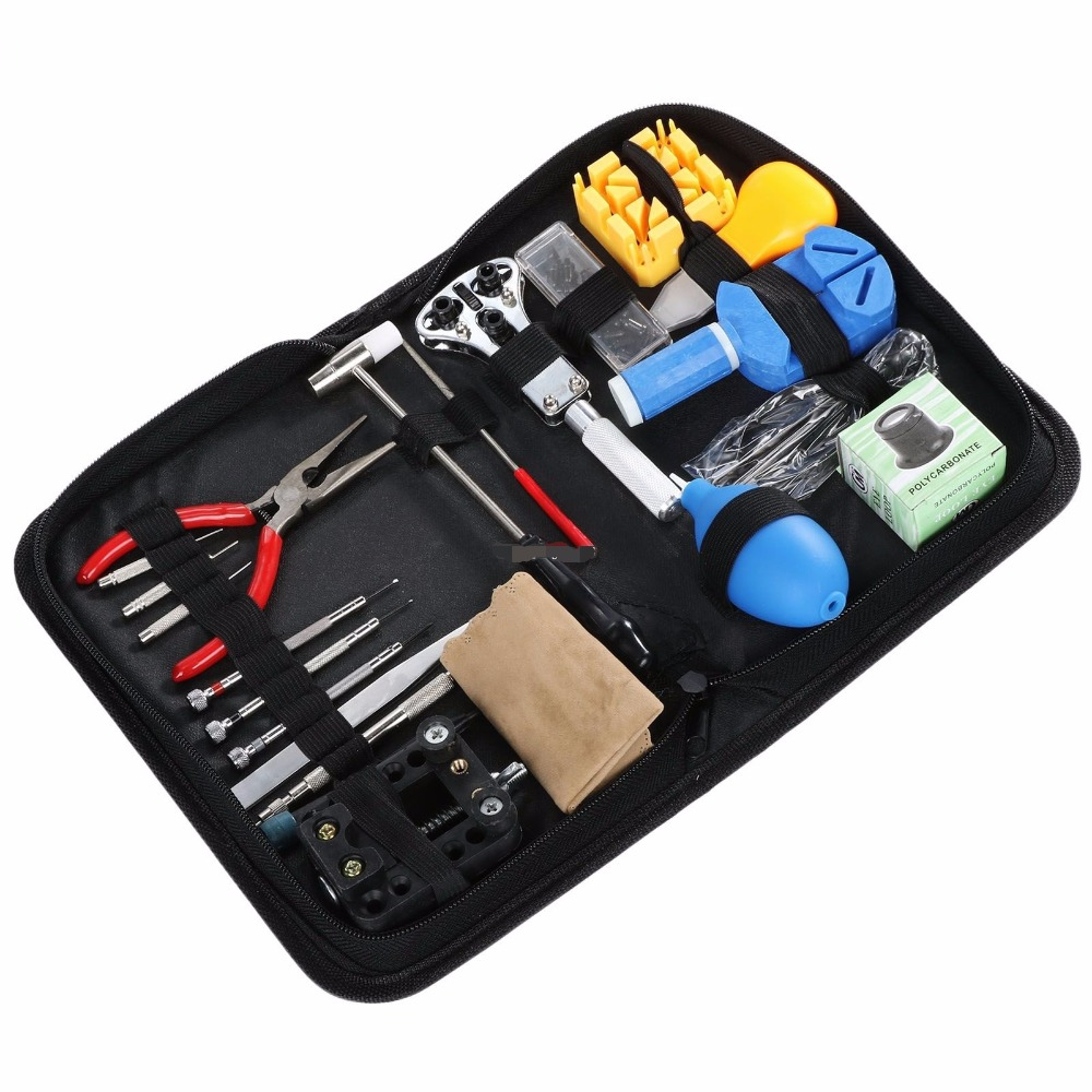 Watch Repair Tool Kit Set Watch Case Opener Link Spring Bar Remover Screwdriver Tweezer Watchlight daylife tool Professional high quality professional 20 pcs watch repair tool kit set with bag link pin remover case opener watch hand remover