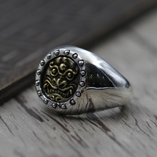 S925 sterling silver jewelry to create personalized carved ring opening