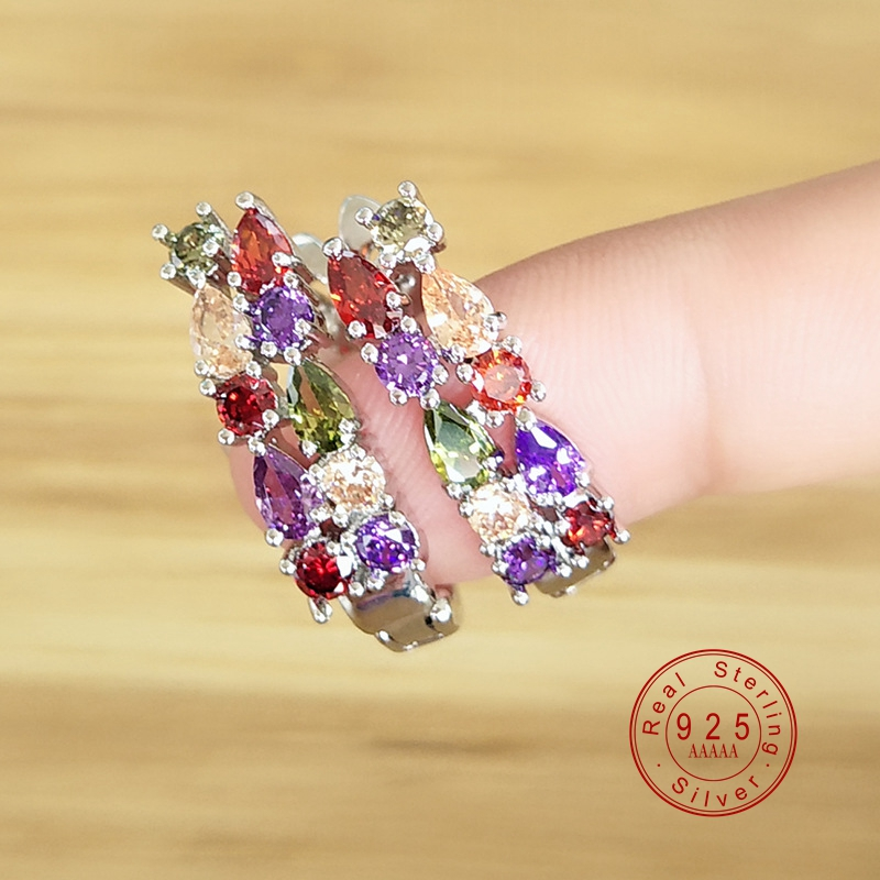Luxury 925 Sterling Sliver Stud Earrings For Women