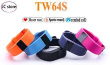 Heart Rate Pulse Smart Band TW64S Fitness Tracker Bluetooth 4.0 Wristband Pedometer Bracelet For IOS Android xiaomi Phone mi