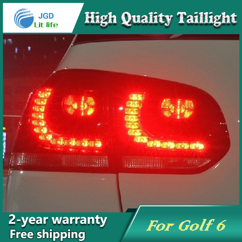 Car Styling Tail Lamp case for VW Golf6 Golf 6 2009-2012 Tail Lights LED Tail Light Rear Lamp LED DRL+Brake+Park+Signal new high quality 1 piece led dark red tail lamp tail light right fit for vw golf gti r mk7 2013 2016 5g0 945 208 5g0945208