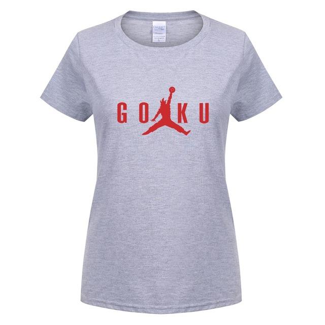 Dragon Ball Z Son Goku Anime Summer Short Sleeve Cotton Women's T-shirt