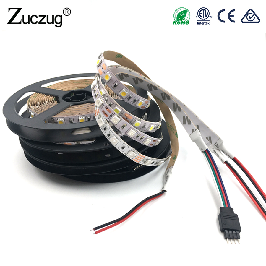 LED Strip Lights SMD 5050 RGB Warm White 5m DC12V 12 v Waterproof 60Led/m Fiexble Light Ribbon Tape Home Holiday Decor 5m dc12v waterproof led strip 5050 smd 60led m flexible led light white warm white red green blue rgb tape ribbon