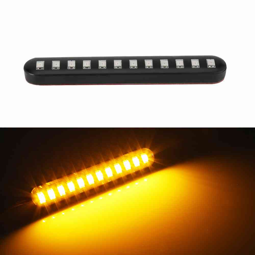 1x Universal Flowing Water Flicker Led Motorcycle Turn Signal Indicators Blinkers With Sticker Amber Light Lamp Led Signal Light