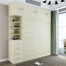4285 5A3 Simple and Modern Home Assembled Panel Wooden Wardrobe Closet Bedroom Furniture 2 Doors Wood