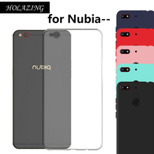 Soft Durable Flexible Silicone TPU Cover for ZTE Nubia M2 Lite Z18 N3 Z17S Z11 Z17 Mini S Anti-Scratch Finger Protective Case