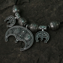 lanseis 1pcs Viking Jewelry  Clothes for Ladies  Viking Boob Bling pendant slavic  Lunula women jewelry