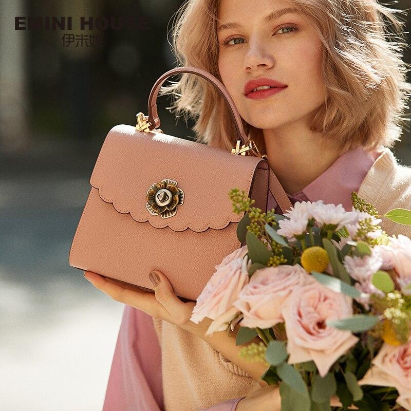 EMINI HOUSE Camellia Handbag Luxury Handbags Women Bags Designer Crossbody Bags For Women Shoulder Bag Messenger