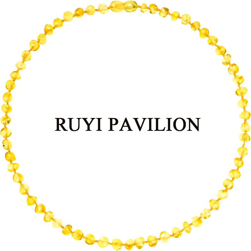 RUYI PAVILION Natural Baltic Amber Necklace Women Adult Long Necklace handmade Honey Baroque Polished 45cm-50cmRUYI PAVILION Natural Baltic Amber Necklace Women Adult Long Necklace handmade Honey Baroque Polished 45cm-50cm