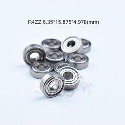 R4ZZ 6.35*15.875*4.978 (mm) peças frete grátis ABEC-5 10 Metal Selado Miniatura rolamentos Mini Rolamento rolamento de aço cromado