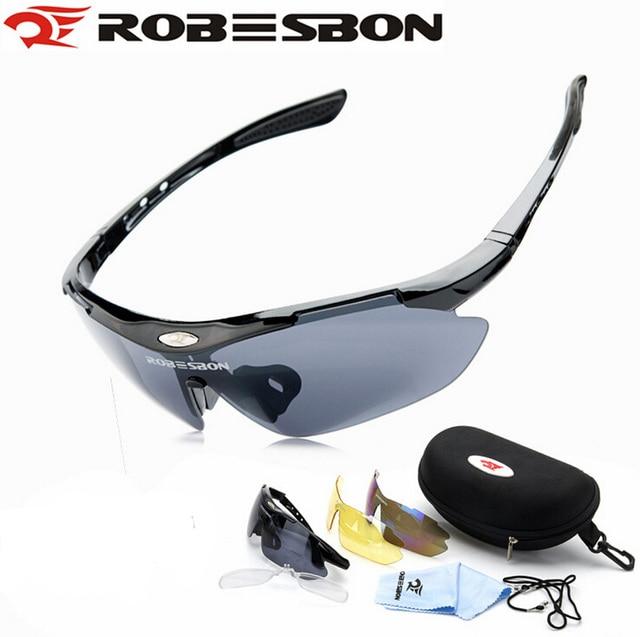 ROBESBON Cycling Eyewear Bike Bicycle Men Sunglasses Sport Glasses Motorcycle Cycling Glasses Protective Goggles 3 Lenses