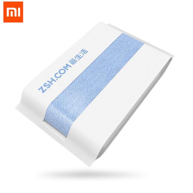 Original xiaomi zsh toalha de banho 100% algodão toalha 580g antibacteriano não-irritante 1.6 s absorção de água forte 700mm * 1400mm