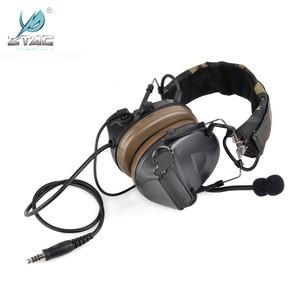 Image 3 - Ztac Peltor Tactical Headset Helmet PTT Active Hunting Comtac II Noise canceling Airsoft Acessorios Tactical Headphones  Z041
