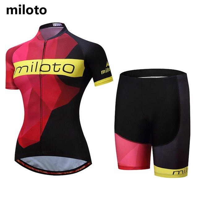 08484eab5 Miloto Cycling Clothing Women Bike Sets Short Sleeve Reflective MTB Jerseys  and Shorts Padded GEL Large 4XL 5XL Woman   Lady