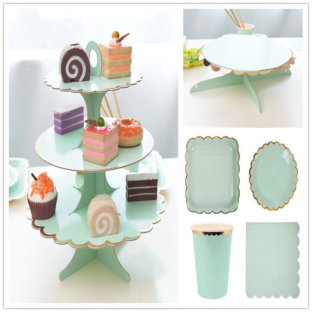 Tiffany Wedding Decoration Cake Display 3 Layers Cake Stand Birthday Party Paper Cake Stand Foil Gold  sc 1 st  AliExpress.com & Tiffany Wedding Decoration Cake Display 3 Layers Cake Stand Birthday ...