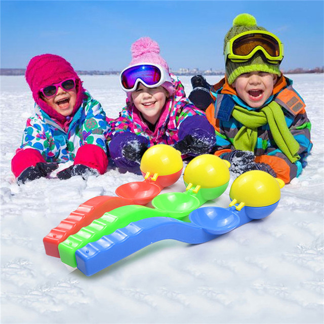 d0bef6d33d71 Snowball Clip Snowball Thrower Two in one Snow Skiing Toys Children ...