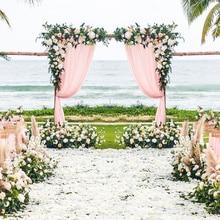 Artificial Flower Arrangement Wedding Stage Arch Decoration Window Photography Photo Background Wall