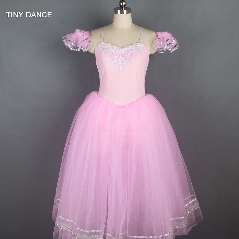 Adult Girls Ballerina Costume Pink Romantic Length Ballet ...