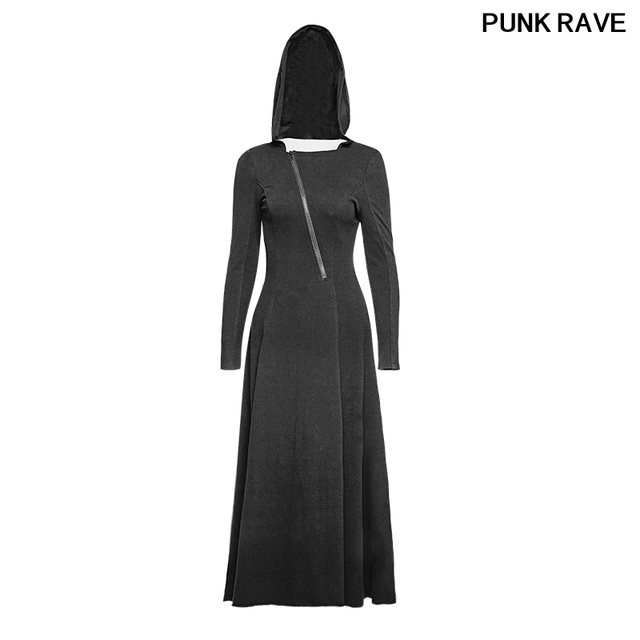PUNK personality female Gothic show Slim sexy Dress Hollow out back ...