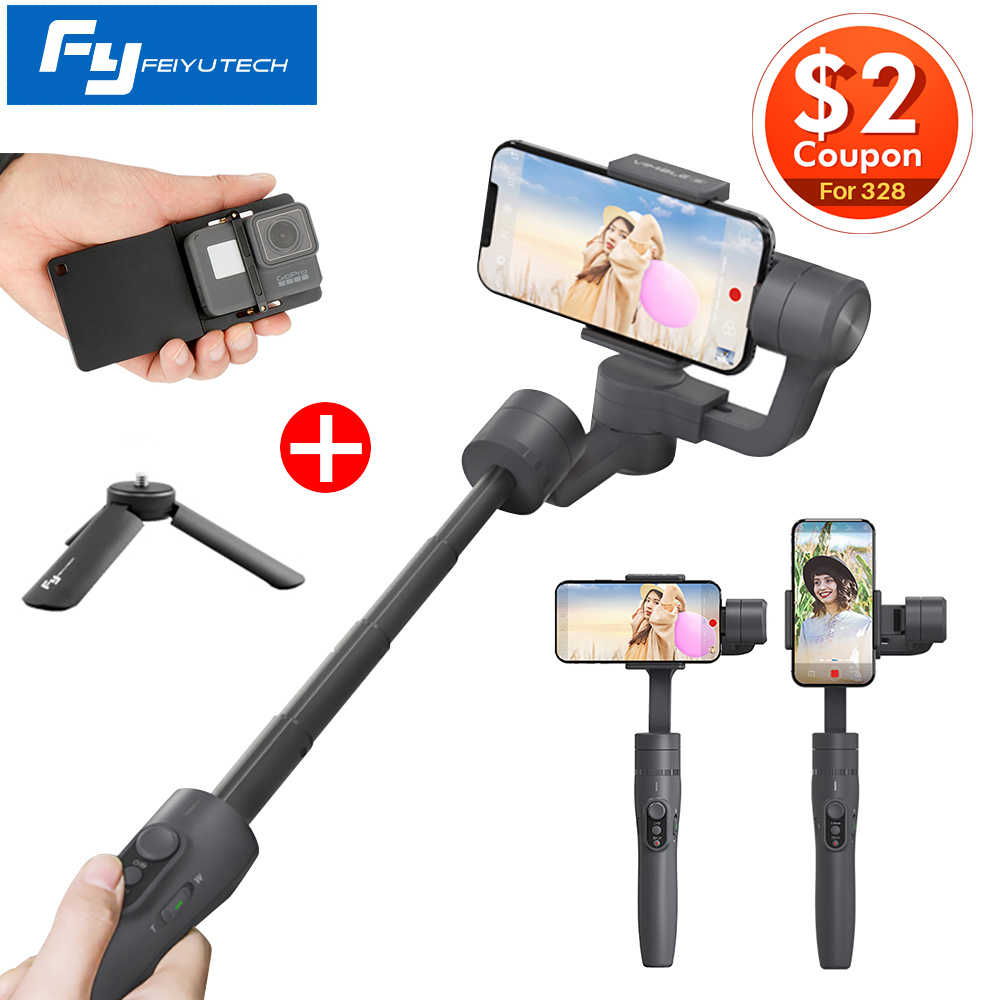 Feiyutech Vimble 2 Handheld 3-Axis Gimbal 18cm Extendable Selfie Stabilizer for iPhone X Gopro 6, PK Smooth 4/DJI OSMO Mobile 2
