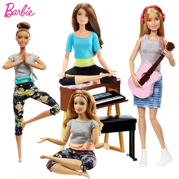 Оригинальный бренд Барби Кукла движение стиль все подвижные суставы куклы Йога модель игрушки для маленького ребенка подарок на день рожде... >> Simboo Store