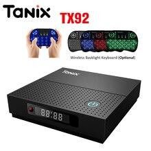 Tanix TX92 Android 7.1 TV Kutusu Amlogic S912 Octa çekirdekli IŞLEMCI OS 2 GB 3 GB 32 GB 64 GB Bluetooth 4.1 4 K Set Top Box Media Player PK X96