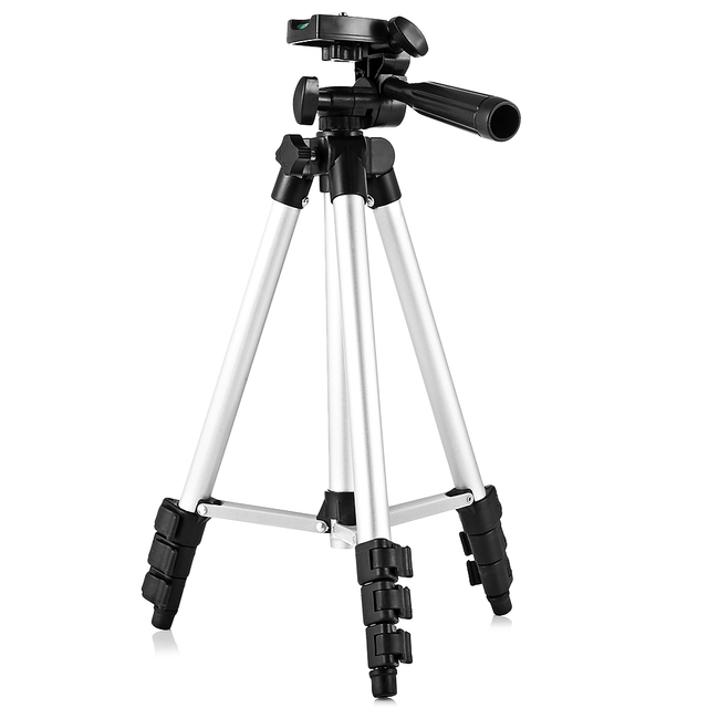 HM3110A Professional Portable Travel Camera Tripod Camcorder Flexible Three-Way Head Tripod For SLR DSLR Digital Camera