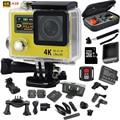 "Original action camera H3R Ultra HD 4k 2.0""+0.95""Screen sport Camera Waterproof 30m 170D Lens go pro Style action cam video cam"