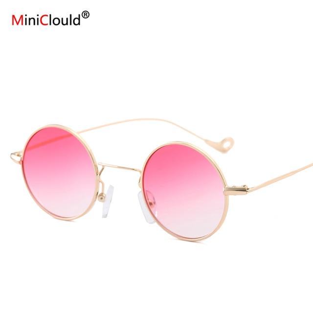 50b938a3a Rodada do vintage óculos de Sol Oculos Redondo Retro Óculos De Sol Redondos Mulheres  John Lennon