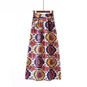 Image 4 - Surmiitro ארוך מקסי בתוספת גודל חצאית נשים 2019 אביב קיץ בציר אינדי פולק הדפסת אונליין גדול גדול גבוהה מותן חצאית נקבה