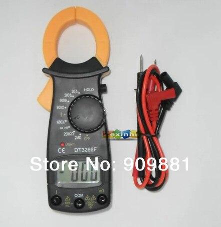 Min DT3266F Digital Clamp Meter Elektronische Amperemeter Mit Summer Alarm Multi Clamp Ampere Amperemeter Messen AC/DC Spannung Widerstand