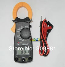 Min DT3266F Digital Clamp Meter Electronic Ammeter With Buzzer Alarm Multi Clamp Ampere Ammeter Measure AC/DC Voltage Resistor