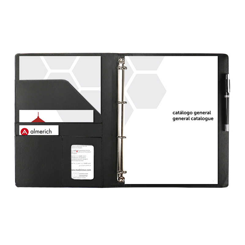 A4 Display Book 4 Rings Binder Document Folder Business Men Women Multifunctional Loose Leaf Filling Product Office Supplies